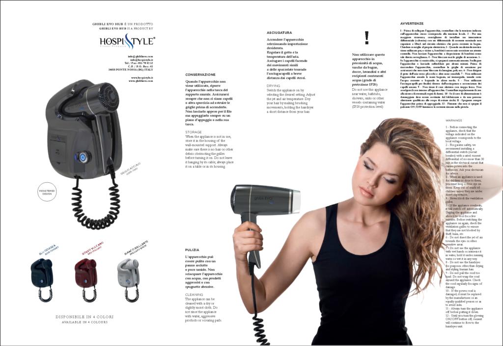 Wall Mounted Hair dryer Libretto Istruzioni