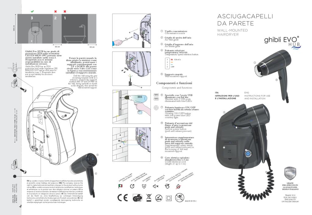 Wall Mounted Hair dryer Manual