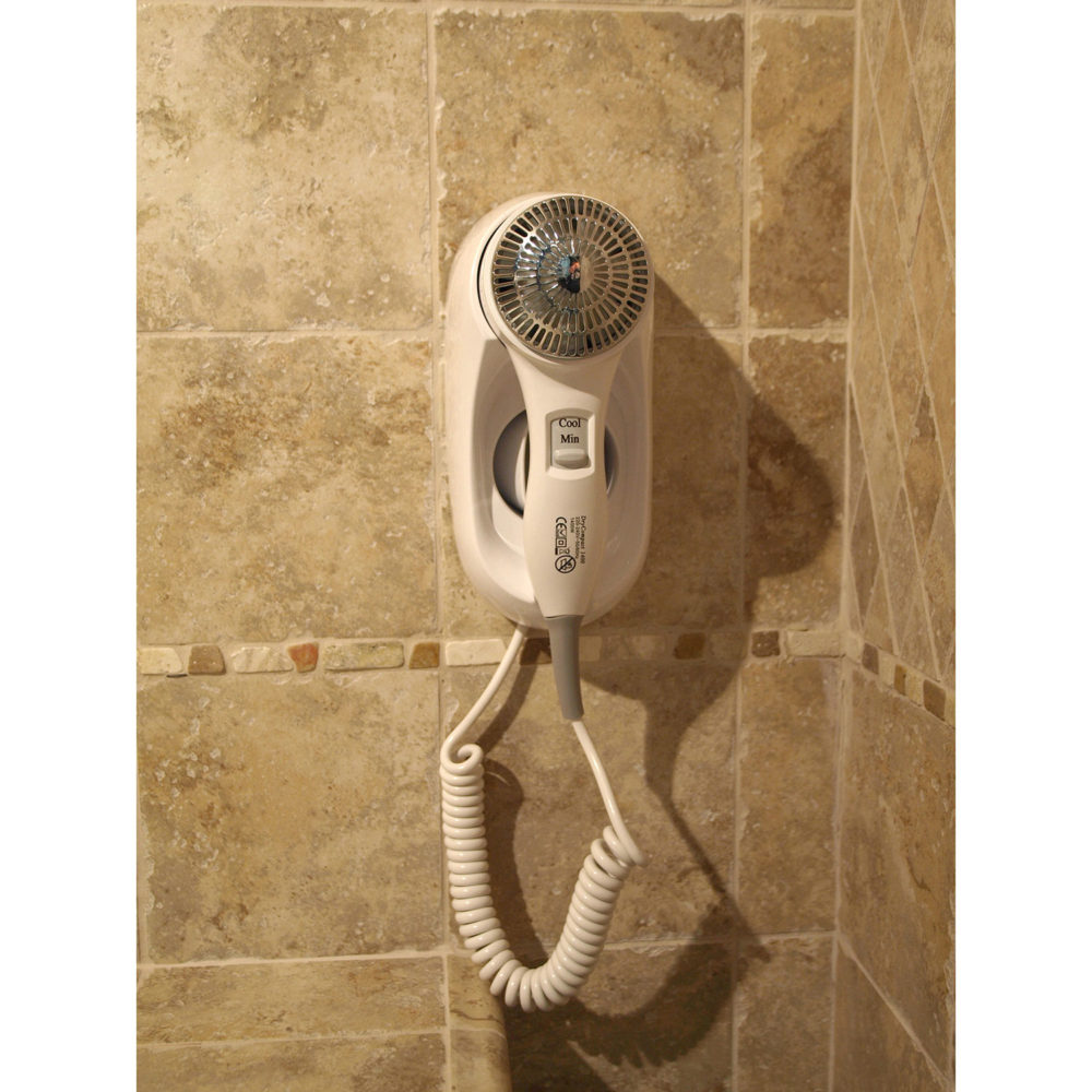 details of wall mounted hair dryer drycompact