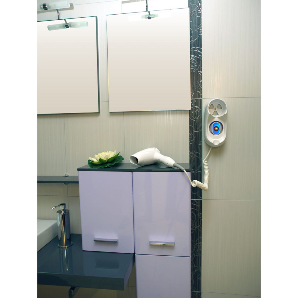 wall mounted hair dryer bathroom hotel